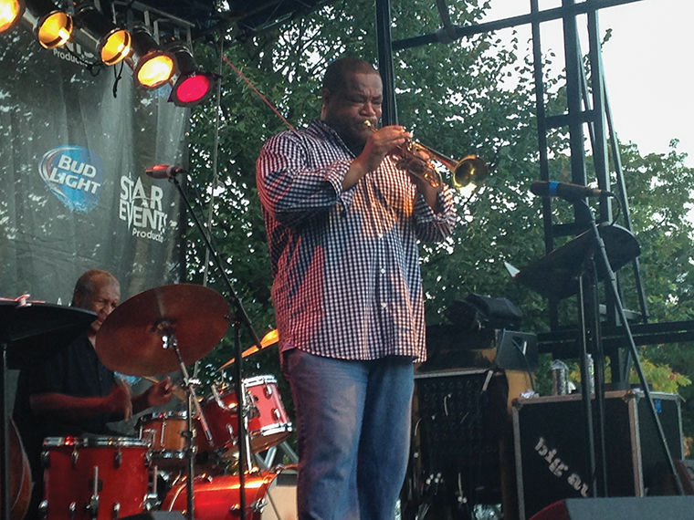 Pharez Whitted played along with the Willie Pickens Quartet at Hyde Park Jazz Festival held Sept. 26–27