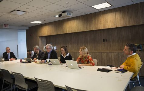 Senior Vice President and Provost Stan Wearden met with chairs of the Strategic Plan implementation committees Sept. 29 to discuss the plan's implementation.