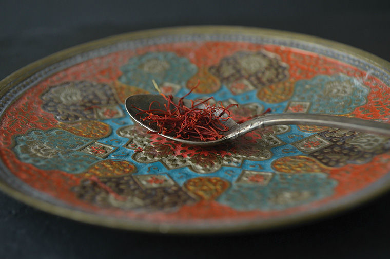 A sample of saffron, the spice sold at Rumi Spice.
