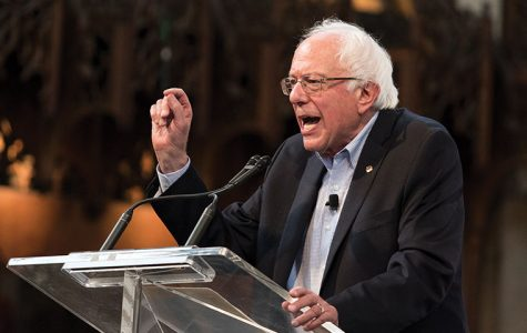 Democratic presidential hopeful Bernie Sanders, a graduate of the University of Chicago, spoke to supporters inside the university's Rockefeller Chapel on Sept. 28.