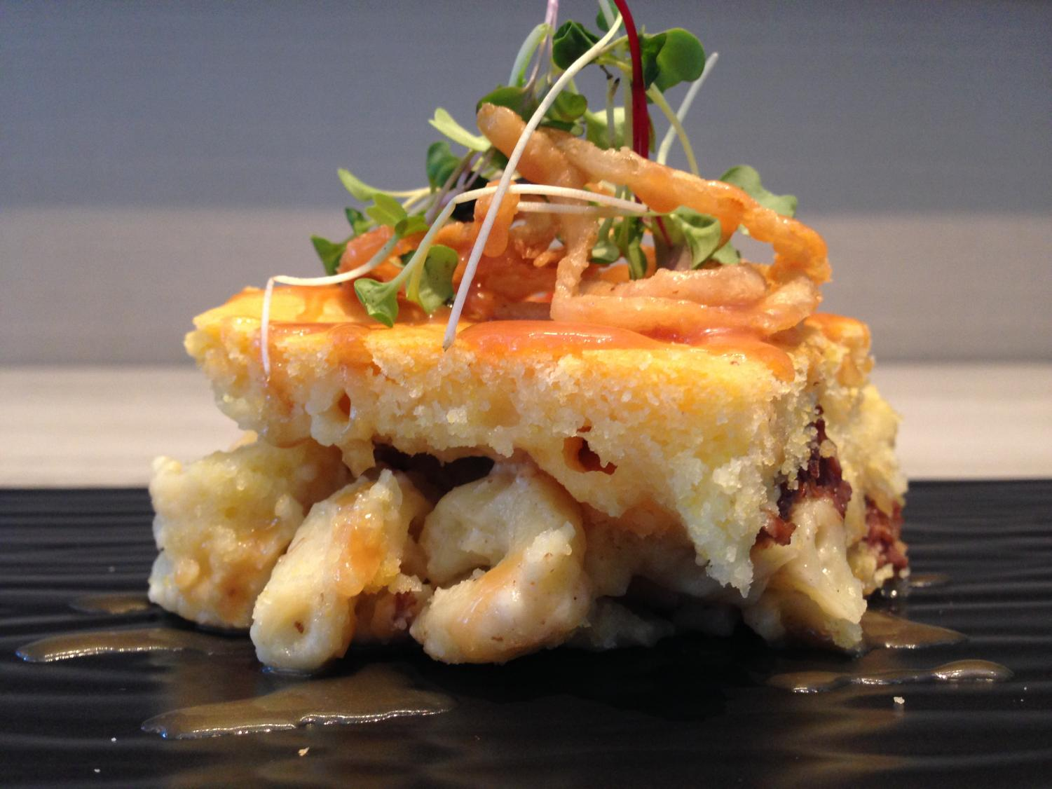 The winner of the Golden Noodle at the 2014 inaugural Mac and Cheese Festival was Kitty O'Sheas' sweet, salty and spicy mac and cheese dish.