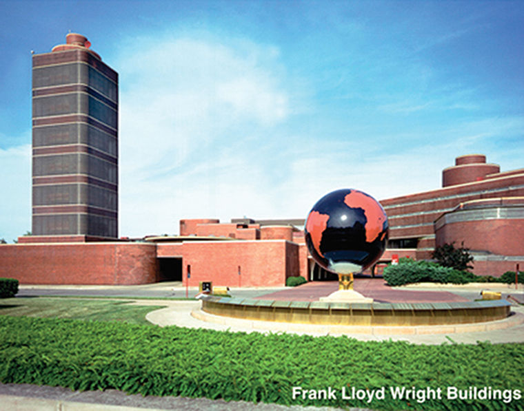 Two SC Johnson headquarters' buildings designed by Frank Lloyd Wright are available for free tours through the biennial.