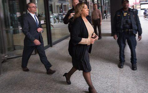 Former Chicago Public Schools CEO Barbara Byrd-Bennett exits the Dirksen Federal Building following her Oct. 13 arraignment.