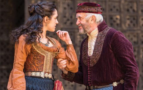 "Phoebe Pryce (Jessica) and Jonathan Pryce (Shylock) will perform in Shakespeare's Globe Theatre's production of ""The Merchant of Venice,"" featured at Chicago Shakespeare Theater as part of Shakespeare 400 Chicago in 2016."