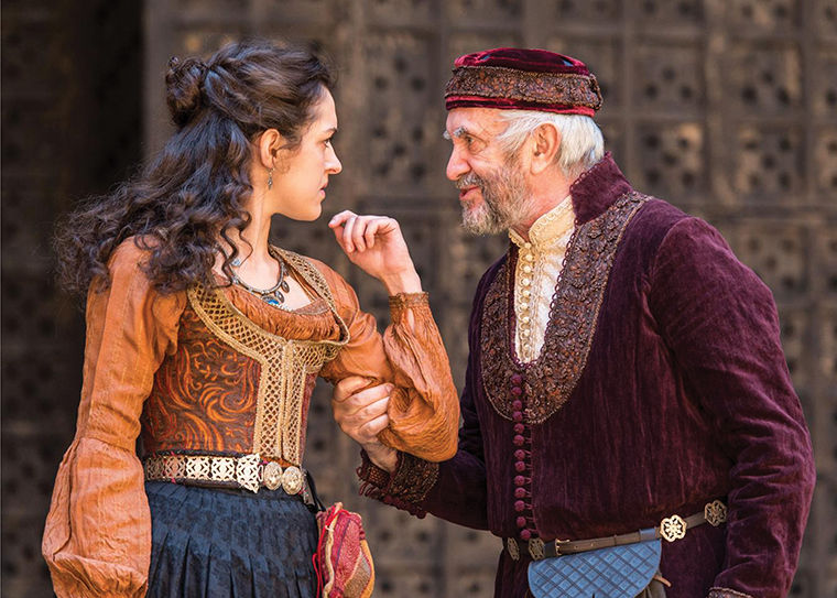 Phoebe+Pryce+%28Jessica%29+and+Jonathan+Pryce+%28Shylock%29+will+perform+in+Shakespeare%E2%80%99s+Globe+Theatre%E2%80%99s+production+of+%E2%80%9CThe+Merchant+of+Venice%2C%E2%80%9D+featured+at+Chicago+Shakespeare+Theater+as+part+of+Shakespeare+400+Chicago+in+2016.