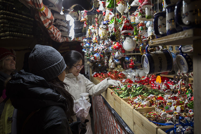 More than 65 percent of Christkindlmarket's vendors travel from Germany to participate, according to the market's website.