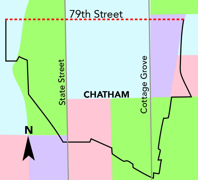 A+map+of+Chatham+shows+79th+Street+runs+long+in+the+neighborhood+and+is+a+main+source+of+revenue+because+of+local+businesses+on+that+street.