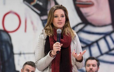 Hanna Hanson, a senior design major expressed her desires for the recently announced Student Center during the Student Government Association's open forum on Nov. 17.
