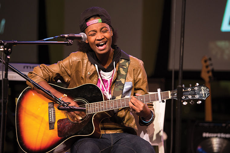 The Oct. 28 Halloween edition of Big Mouth at the 1104 S. Wabash Ave. Building featured comedy, poetry, rap and music, including a song performed by freshman music major Ayana Lawson.
