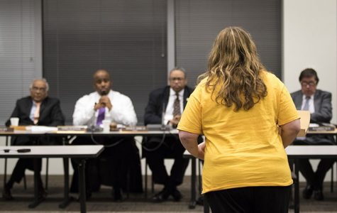 Residents asked Transit Board members to reinstate cut bus routes at a public forum Nov. 16.