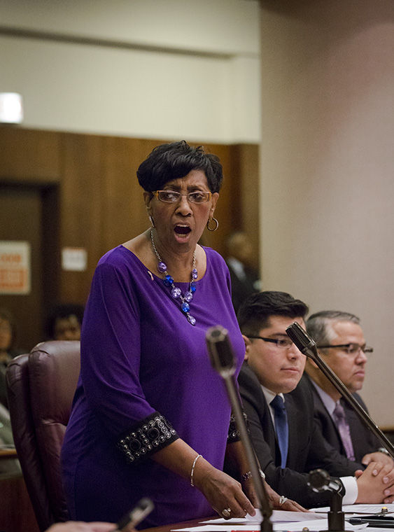 Alderman Carrie Austin (34th ward) argued in favor of the budget but admitted that