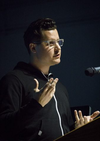Matthew Hoffman, creator of the You Are Beautiful art campaign, came toColumbia on Nov. 5 at the 623 S Wabash building to speak with students. Heencourages people get involved by leaving a message on the hotline.