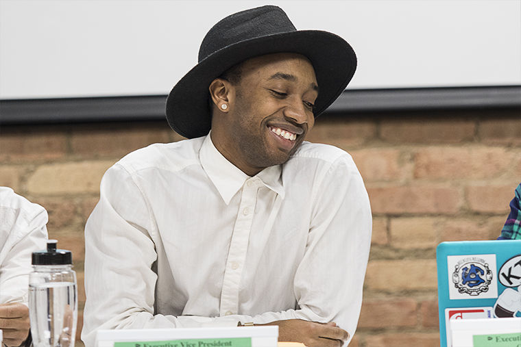 Luther Hughes, a senior creative writing major was elected Student Government Association President during SGA's membership meeting on Dec. 15at The Loft in the 916 S. Wabash Ave.