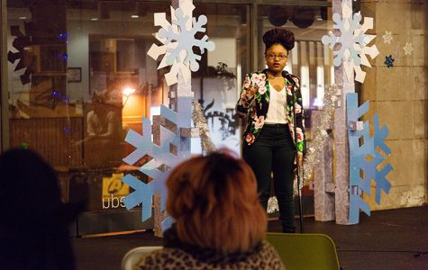 "Tremeka North, a freshman creative writing major, performed her spoken word piece, ""Incandescent Flower"" at RL Cafe on Jan. 21 at the Residence Center, 731 S. Plymouth Court."