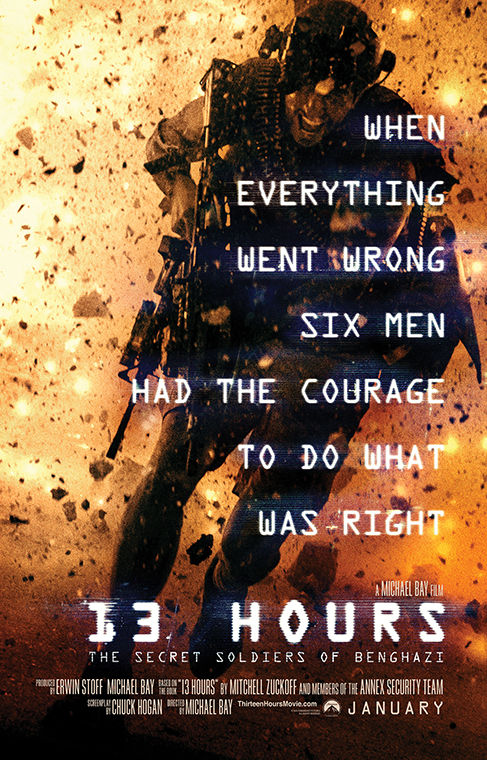 """13 Hours"" depicts the Benghazi attack of 2012."