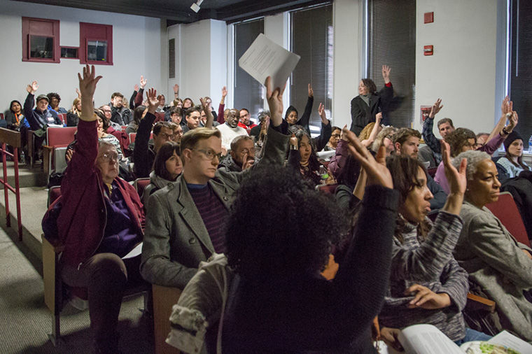 The decision to reject the college's Dec. 18 proposal for salary increases was unanimous at a Jan. 21 general membership meeting for the United Staff of Columbia College. The bargaining committee will decide on a counterproposal.