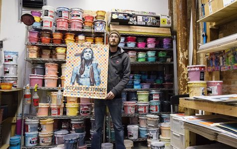 Zissou Tasseff-Elenkoff, artist and owner at Fugscreens Studios, will be celebrating his 10th anniversary with a show on Feb 19 at Galerie F, 2381 N Milwaukee Ave.