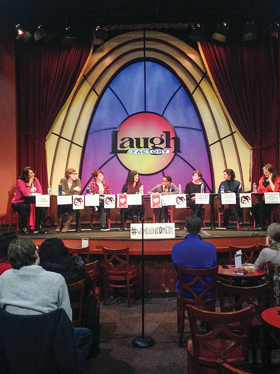 Female comedians and assault educators were part of a panel Jan. 31 at The Laugh Factory, 3175 N. Broadway and discussed solutions to harassment.