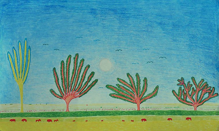 """Artwork completed by art organizations Project Onward and Hozhoni Foundation will be shown at """"The Road Ahead"""" exhibit on Feb. 19 at the Bridgeport Art Center."""