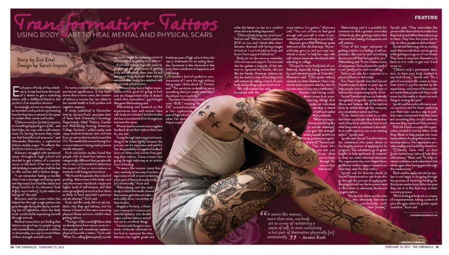 Transformative Tattoos Using Body Art To Heal Mental And Physical Scars The Columbia Chronicle