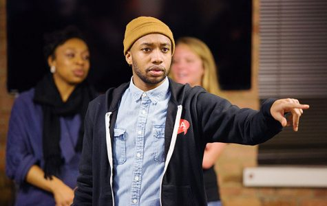 Luther Hughes, newly-elected SGA president and a senior creative writing major, encouraged students to join the association at the introductory social on Jan. 26.