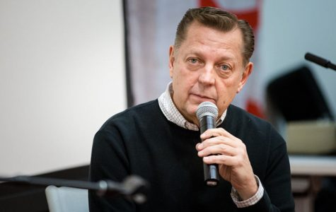 Priest and a social activist Michael Pfleger speaking during the opening event of the African-American heritage month on Feb. 3 at 600 S. Michigan Ave. Building's Ferguson Hall.