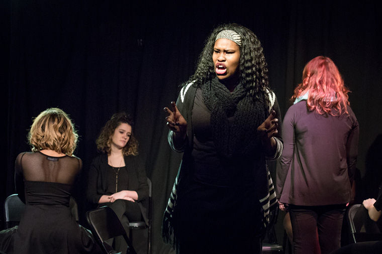 "Dezhane Rouse, a junior theatre major, performed a monologue titled ""My Angry Vagina,"" as well as pieces discussing issues of sexual assault and transphobia."