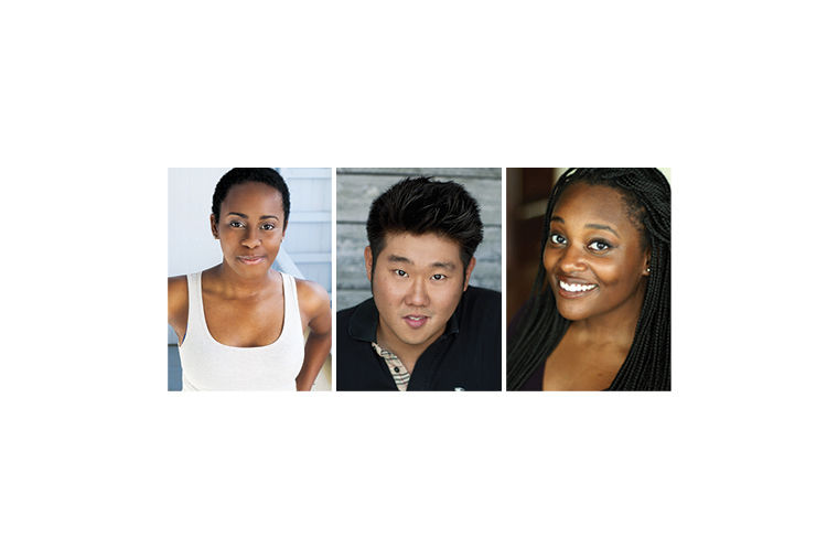 Lisa Beasley, Peter Kim and Aasia LaShay Bullockmake up part of e.t.c.'s diverse new cast for the theater's 40th residential stage revue, set to open in April. Katie Klein, Julie Marchiano and Scott Morehead complete the six-person cast.