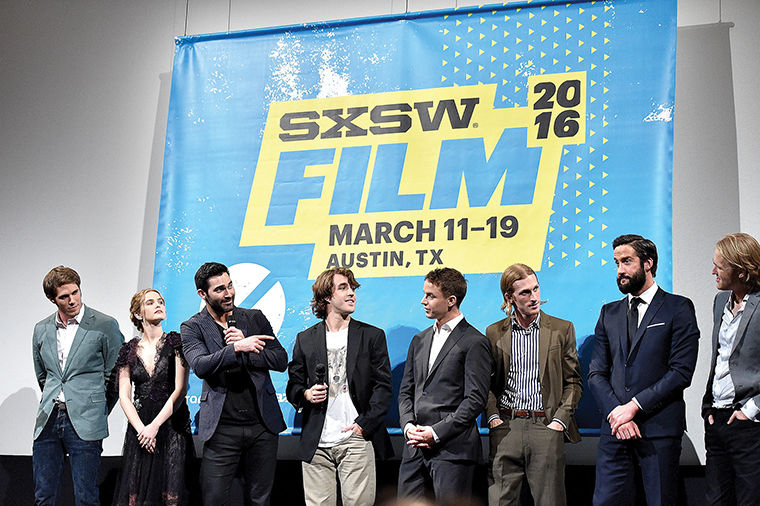 "The cast of ""Everybody Wants Some!!"" attended a screening of its film during the 2016 SXSW Music, Film + Interactive Festival at The Paramount Theatre March 11 in Austin, Texas."