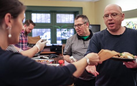 """The Fat Cat Bar hosted a dinner at Mercy Housing Malden Arms, 4727 N. Malden St., April 20 as part of its """"Uptown Initiative"""" for Mercy Housing Lakefront, a low-income housing organization."""