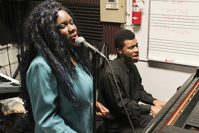 Josey Omokheyeke and Eric Rutherford, both junior music majors and vocalists of Momz, said they are honored to have been selected to play at Biggest Mouth.