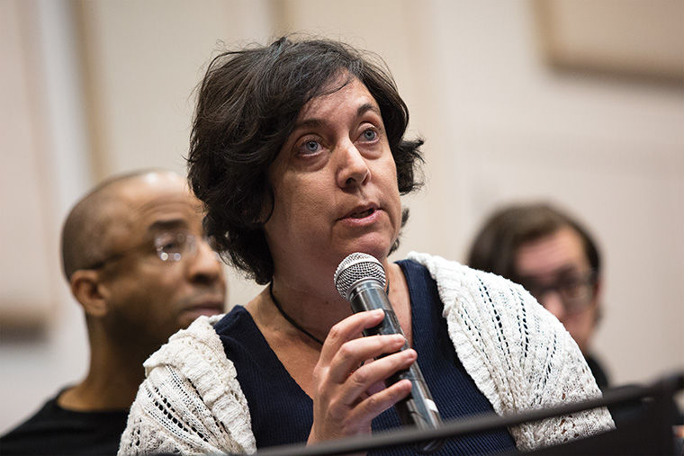 Diana Vallera, an adjunct professor in the Photography Department and part-time faculty union president, said the college needs to better compensate its adjunct faculty in light of a study conducted by Graff, Ballauer & Blanski, a local public accounting firm, on behalf of P-Fac.