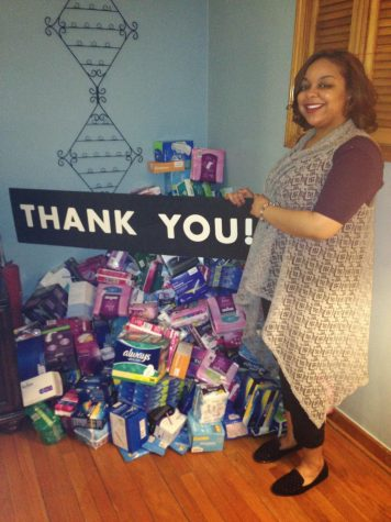 In 2016, Jesseca Rhymes, coordinator of Never Go Without, spent her second consecutive year collecting feminine hygiene products for homeless women