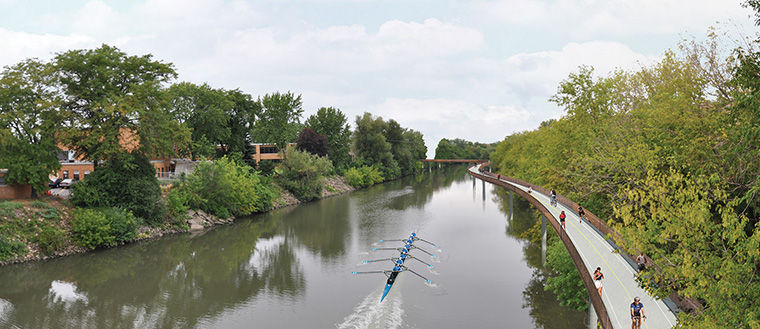 The Riverview Bridge may also stimulate commerce and tourism in the area, said Margaret Frisbie, executive director at Friends of The Chicago River.