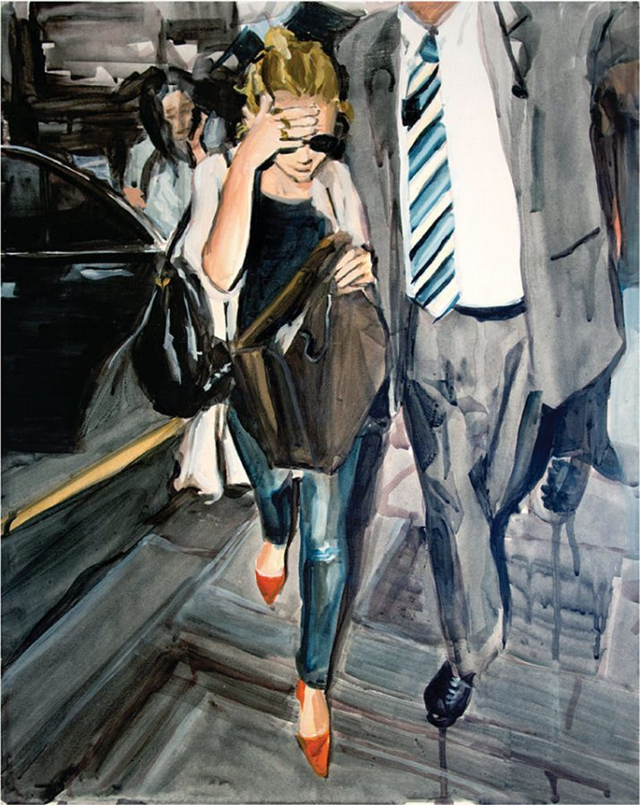 "Chicago-based artist Laura Collins' paintings depicting Mary-Kate and Ashley Olsen will be featured in ""The Olsen Twins Hiding From The Paparazzi"" at the Tonya Harding Nancy Kerrigan 1994 Museum in New York City from April 22–May 1."