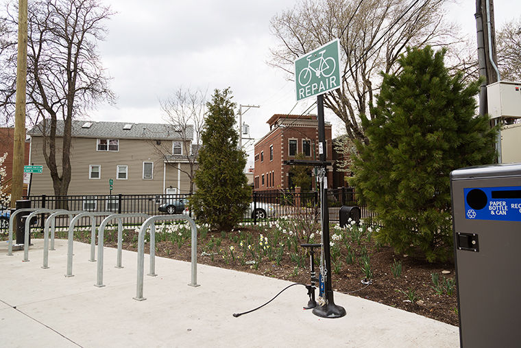There will be three repair stations located along the 606 path at the Walsh Park, Ridgeway and Talman locations, according to Jean Linsner, Exelon fellow for Education for The Trust for Public Land.