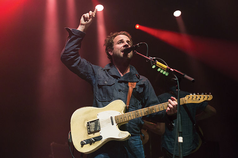 Taylor Goldsmith, the lead vocalist and guitarist for the folk-rock Los Angeles-based group Dawes, led the rest of the all-male quartet in high spirits at The Vic Theatre, 3145 N. Sheffield Ave.