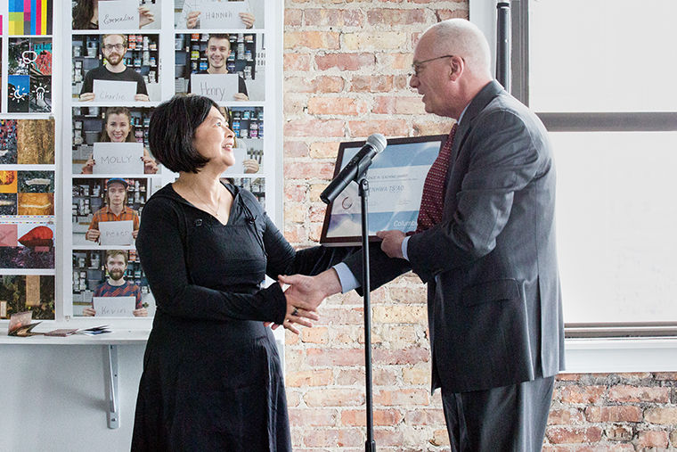 The Excellence in Teaching Award Committee recognized Robert DiFazio, Michelle Rafacz and Wenhwa Ts'ao (pictured) with awards for their strong teaching methods.