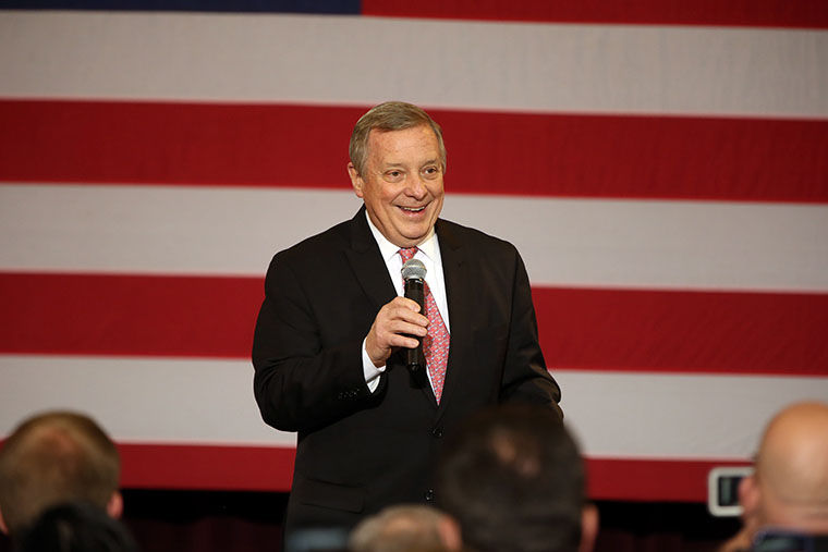U.S. Senator Dick Durbin spoke with The Chronicle and WCRX about this year's Democratic National Convention. (Terrence Antonio James/Chicago Tribune/TNS)
