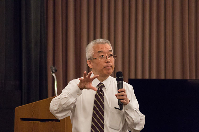 President and CEO Kwang-wu Kim kicked off Faculty and Staff Convocation at Film Row Cinema, 1104 S. Wabash Ave., Sept. 16.