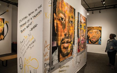 """Ervin Johnson, a 2012 photography alumnus and creator of """"#InHonor"""", held a reception for his gallery show on Sept. 8."""