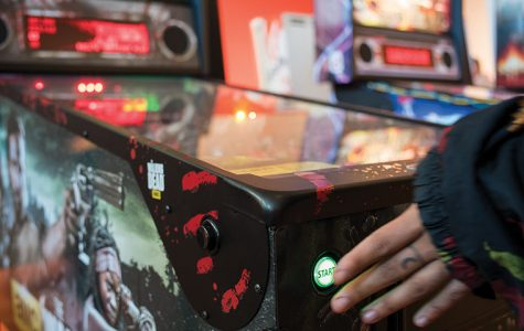 """Columbia's """"Skillshot"""" exhibit allows students and artists to play pinball and display work that shows the machines' functions and artistic value according to Mark Porter, exhibition coordinator."""