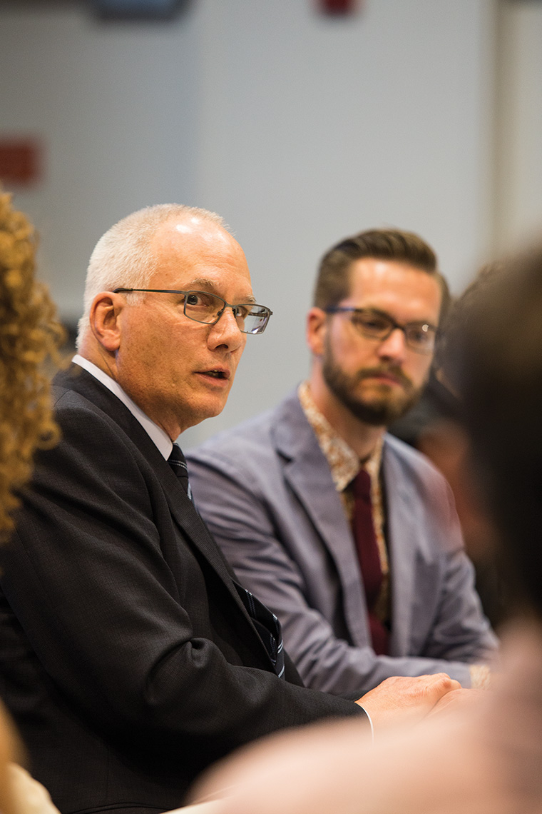 Senior Vice President & Provost Stan Wearden admitted the lack of communication with faculty during the summer, but asked for more faculty engagement and presence.