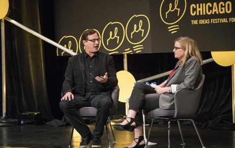 "Anne Libera, director of Columbia and Second City's comedy studies program hosted the ""Comedy: But Seriously...""  Oct. 19 talk that featured comedian Bob Saget."