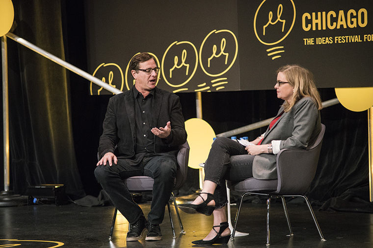 """Anne Libera, director of Columbia and Second City's comedy studies program hosted the """"Comedy: But Seriously..."""" Oct. 19 talk that featured comedian Bob Saget."""