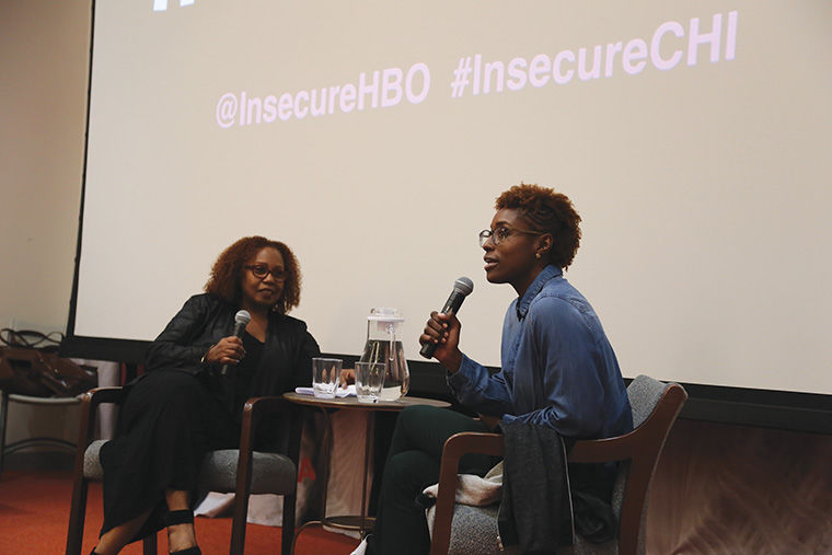 "HBO actress and executive producer Issa Rae participated in a Q&A with students and staff after a screening of her upcoming show, ""Insecure"" on Sept. 26."
