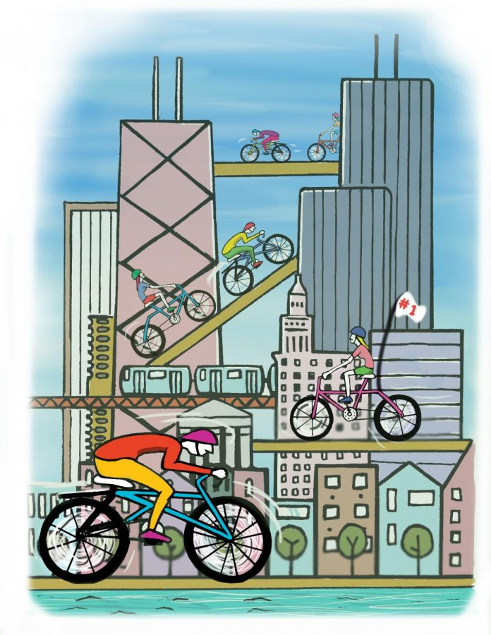 Chicago overtakes competition in bicycling