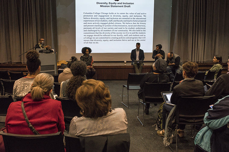 The college community voiced their critiques of Columbia's Diversity, Equity and Inclusion Committee's recently drafted mission statement at an Oct. 31 forum.