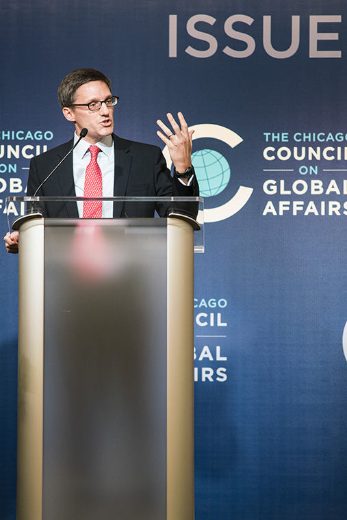 Derek Chollet, former adviser to President Barack Obama, spoke about the nation's foreign policy legacy during a Chicago Council on Global Affairs Nov. 3.