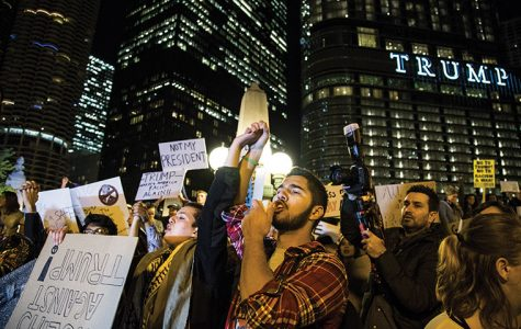 Photos: Anti-Trump protest erupts near Trump Tower, spreads throughout Loop
